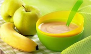 яблочно бананновое пюре