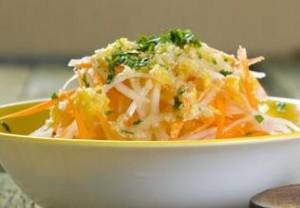 салат из редьки моркови и грецкие орехи