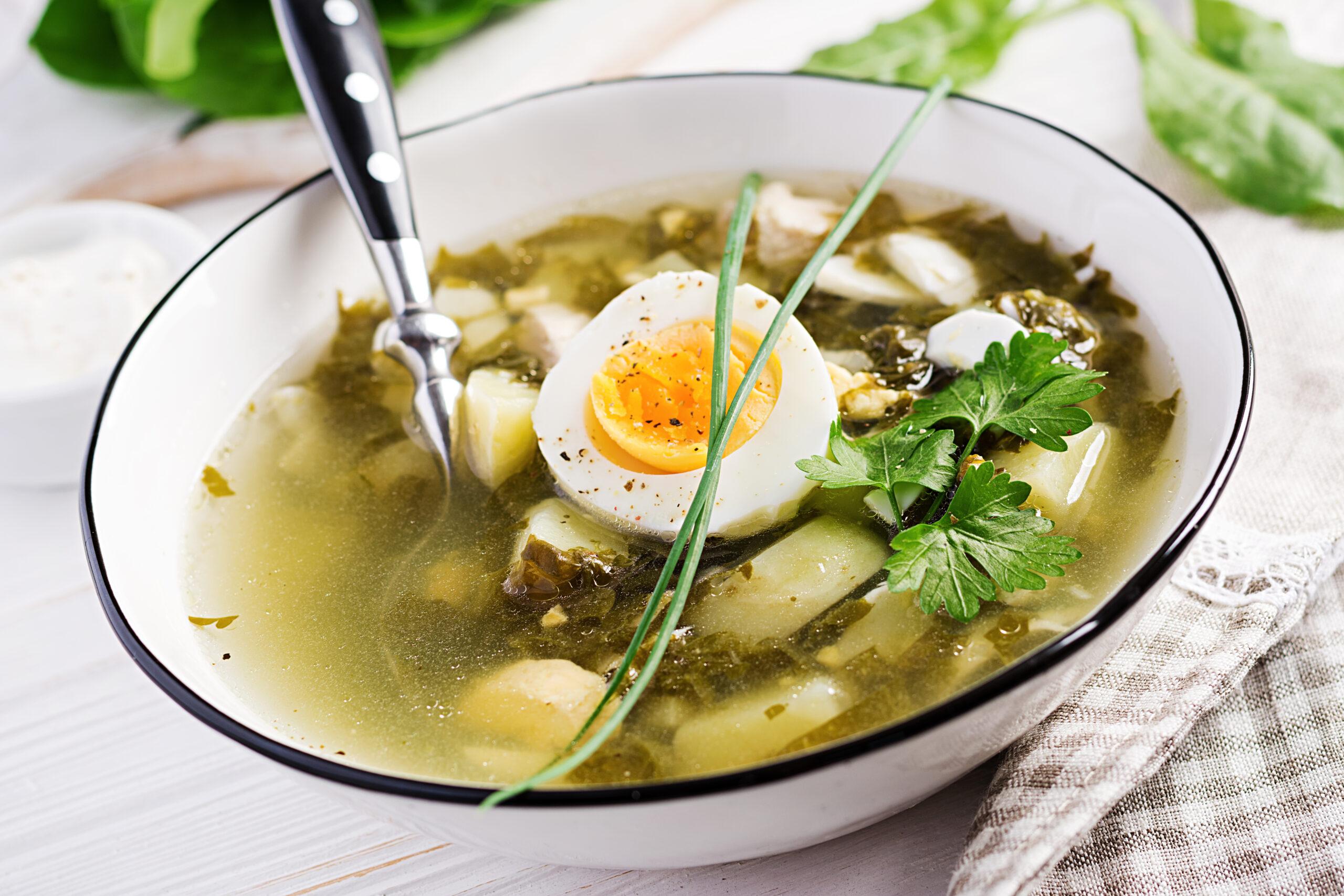 Суп с щавелем и яйцом рецепт с фото