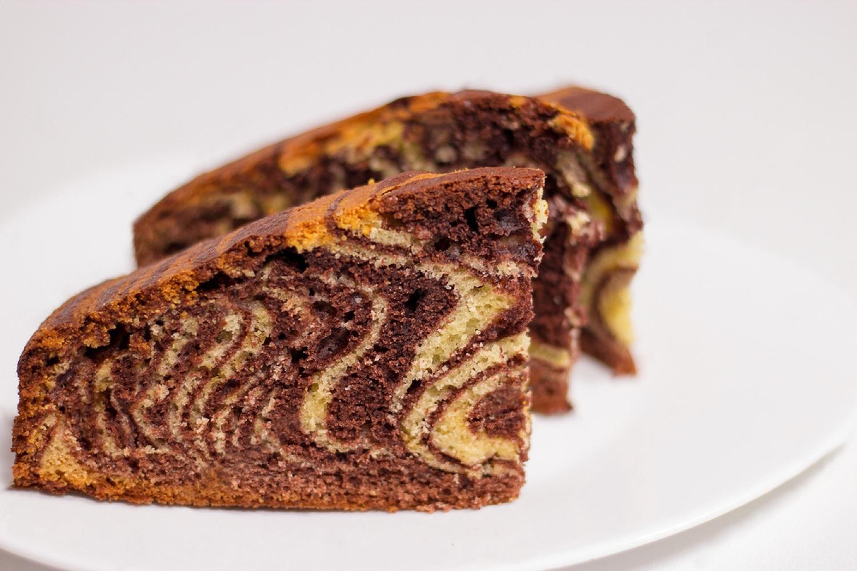 """""""Зебра"""" пирог самый простой рецепт на сметане"""