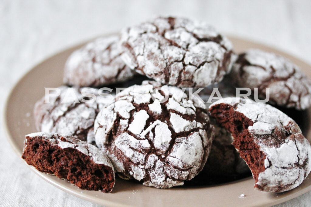Печенье с трещинками шоколадное рецепт