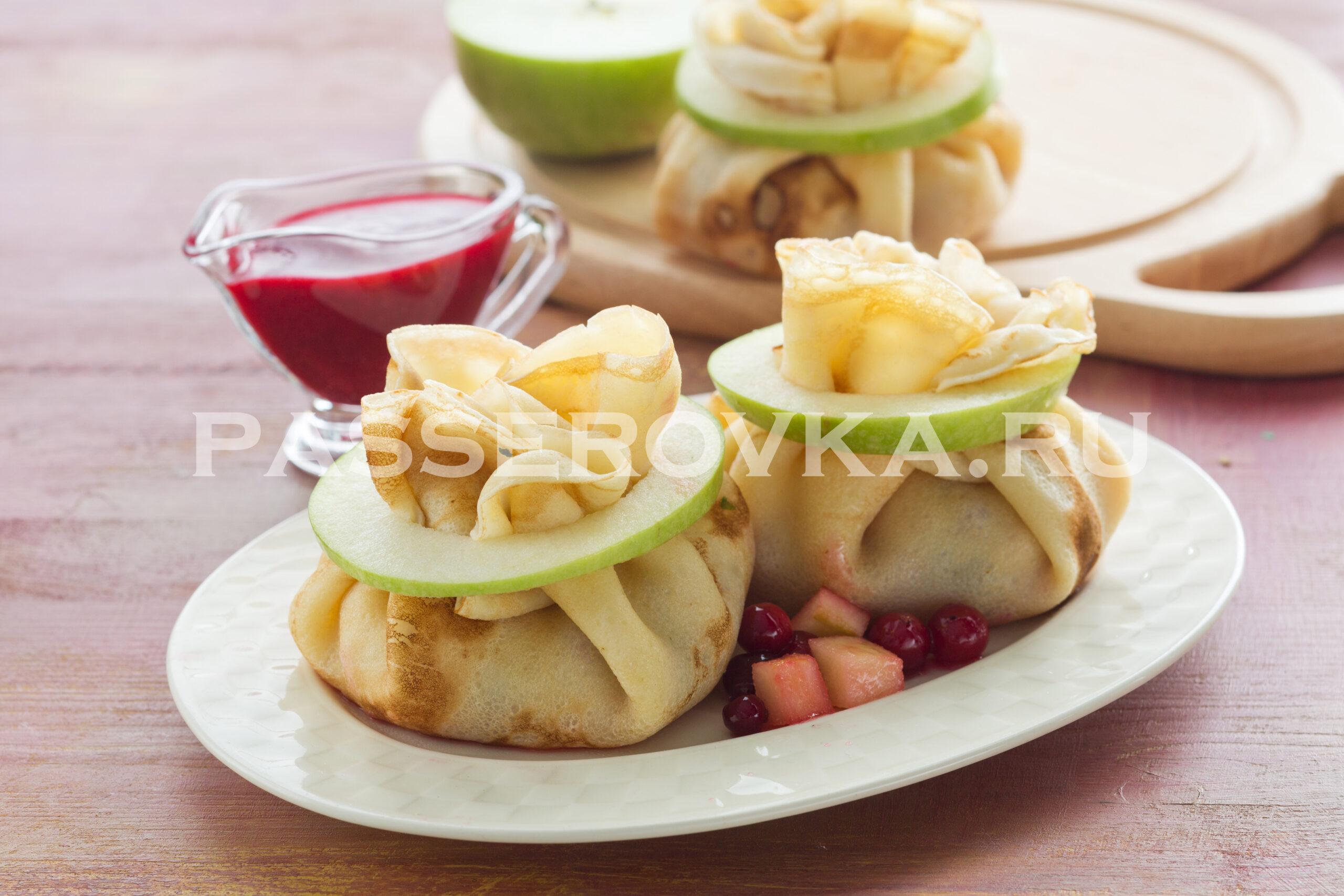 Блинчики с яблоками рецепт самый вкусный