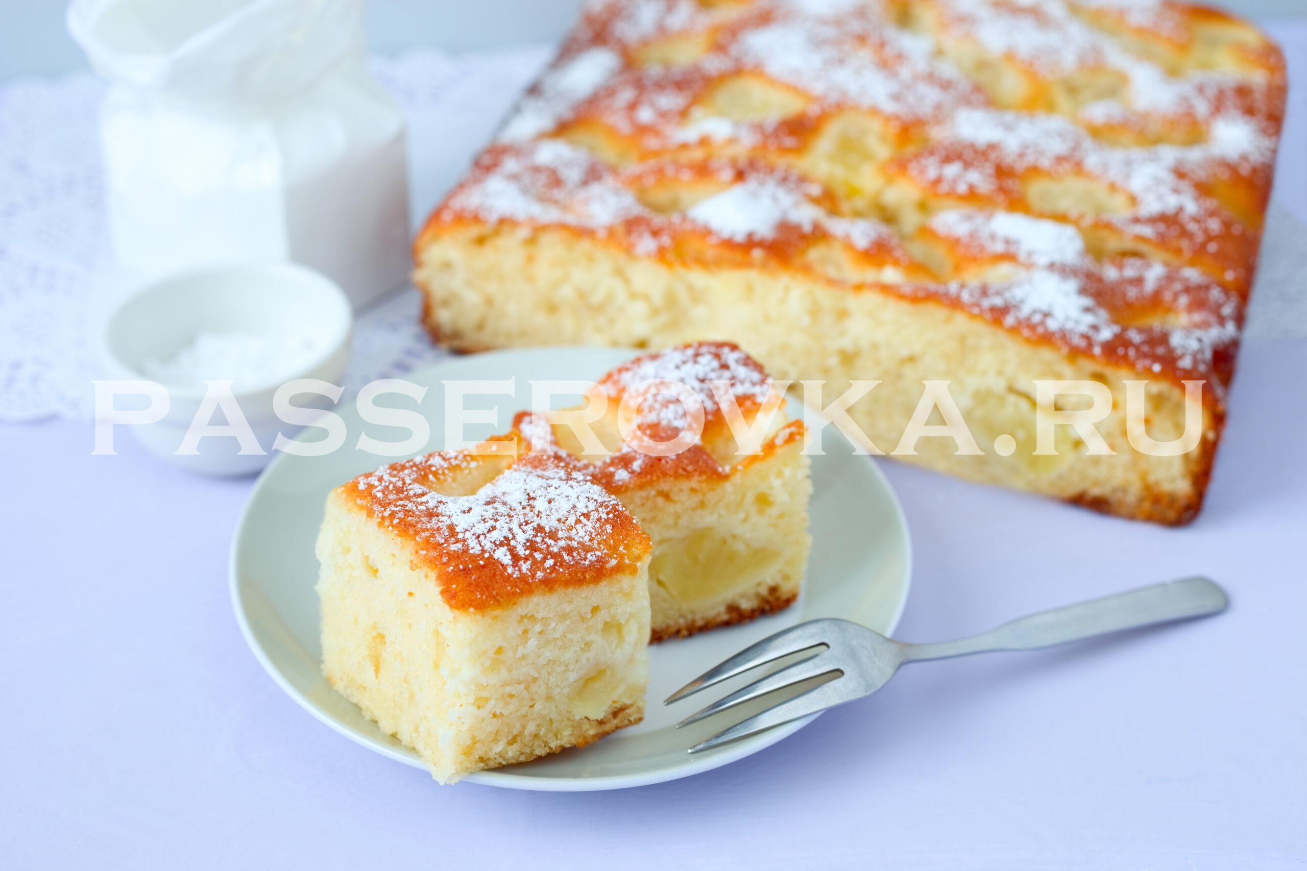 Пирог с ананасом свежим рецепт в духовке