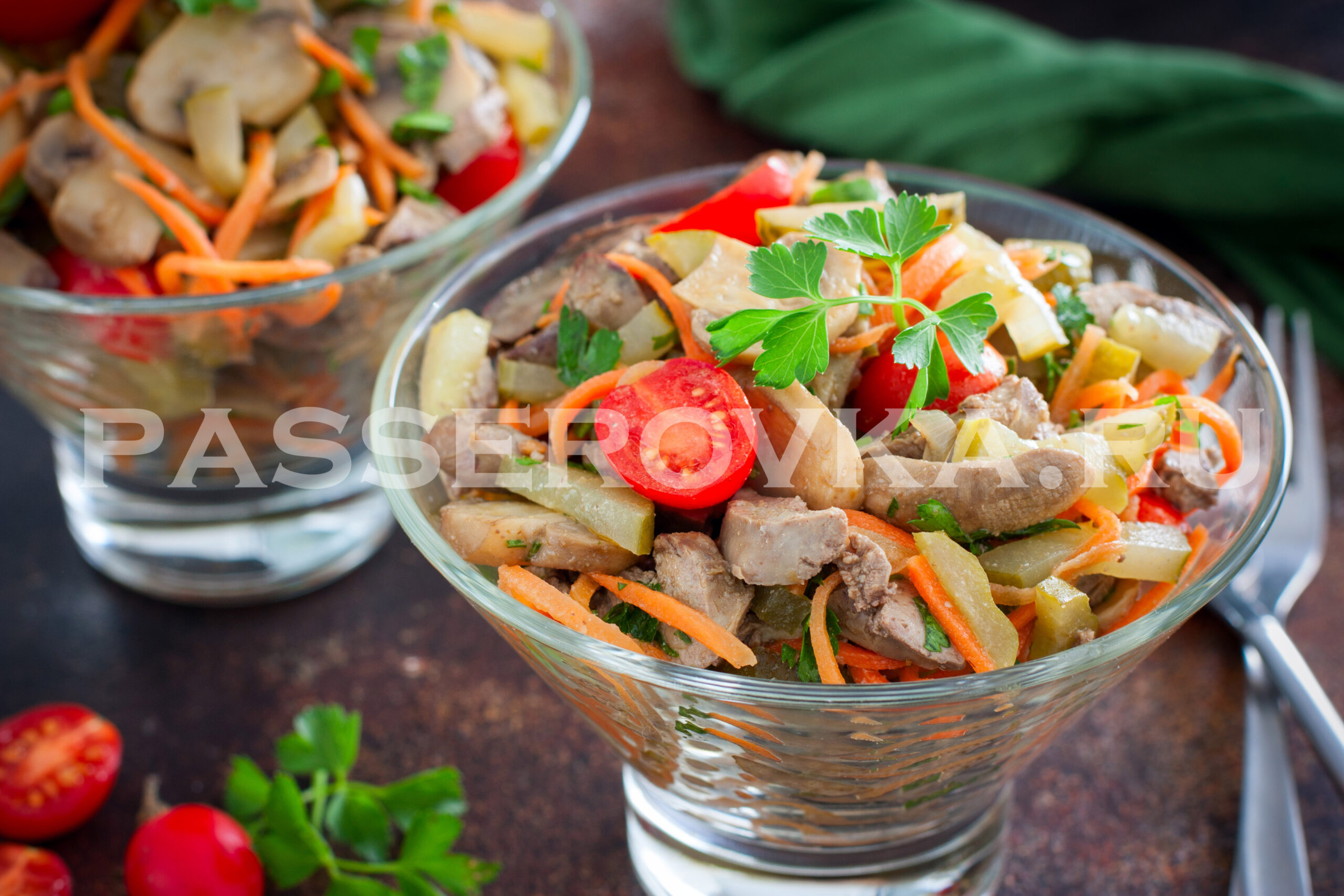 Птичьи язычки рецепт салат