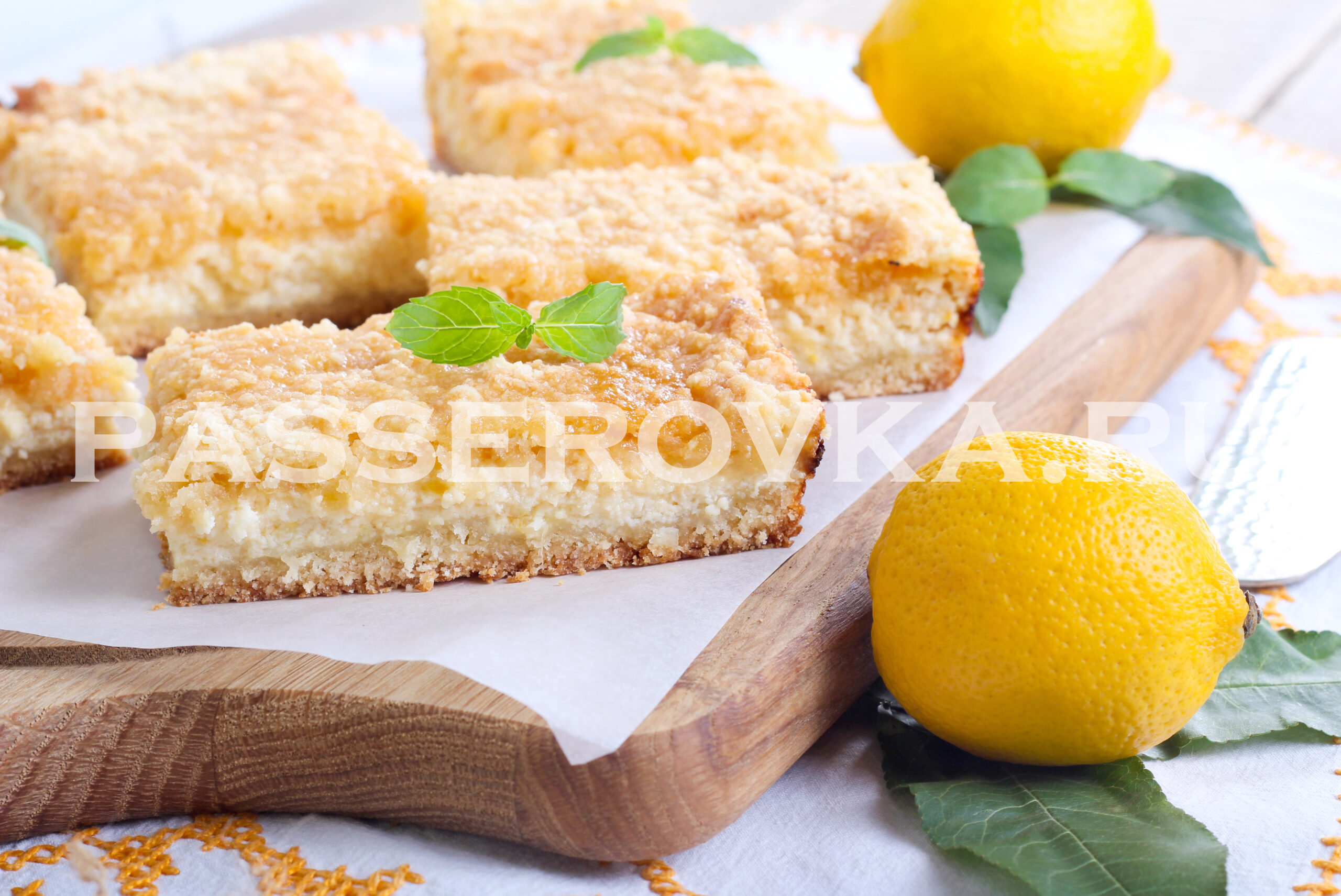 Лимонные пирожные рецепт с фото